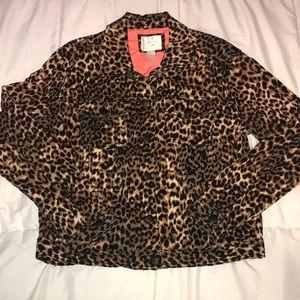 Forever 21 Leopard Print Denim Jacket